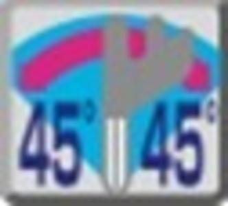 Coupe biaise 45⁰ gauche et droite